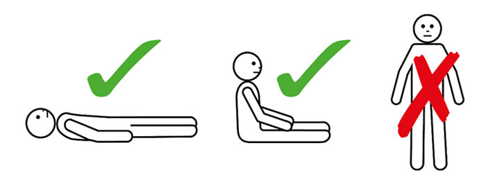 Uzan, otur, ayakta durma